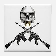 Skull Bullet teeth Tile Coaster