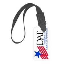 DAR 4 color logo - rotated Luggage Tag