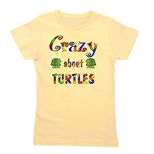 Crazy About Turtles Girl's Tee