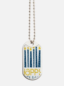 Happy Hanukkah Dog Tags