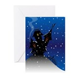 Gothic christmas Greeting Cards