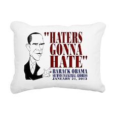 Obama Inaugural Address Rectangular Canvas Pillow