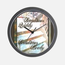Sometimes Quickly, Sometimes Slowly Wall Clock