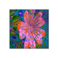 "Flower Garden Delight Square Sticker 3"" x 3"""