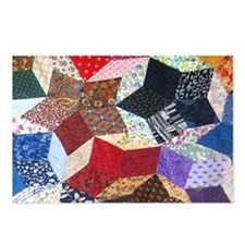 Tumbling Blocks Patchwork Postcards (Package of 8)