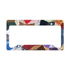 Tumbling Blocks Patchwork Qui License Plate Holder