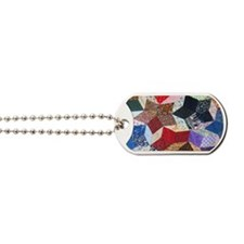 Tumbling Blocks Patchwork Quilt Dog Tags