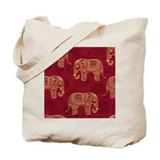 Beautiful Elephant Pattern Tote Bag