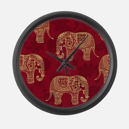 Beautiful Elephant Pattern Large Wall Clock