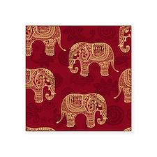 "Beautiful Elephant Pattern Square Sticker 3"" x 3"""