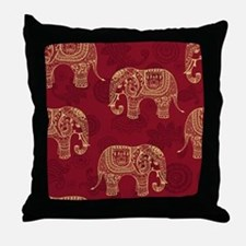 Beautiful Elephant Pattern Throw Pillow