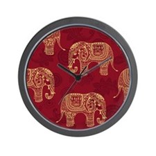 Beautiful Elephant Pattern Wall Clock