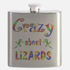 Crazy About Lizards Flask