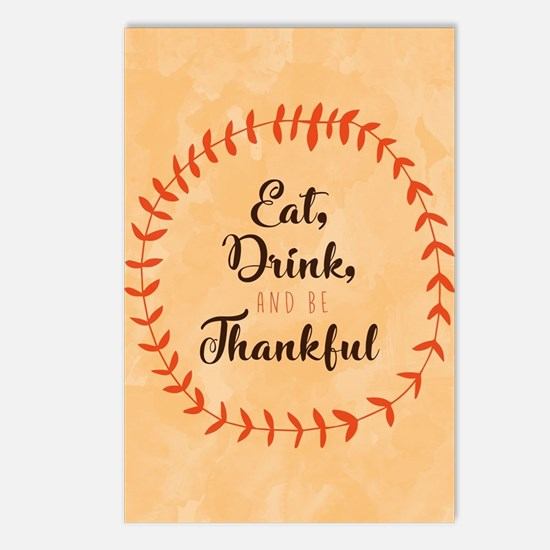Eat Drink and Be Thankful Postcards (Package of 8)