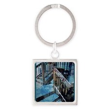 The Old Rugged Steps Square Keychain