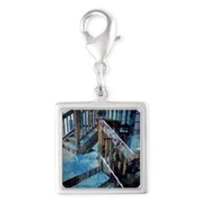 The Old Rugged Steps Silver Square Charm