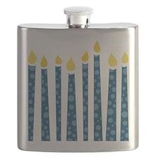 Hanukkah Candles Flask