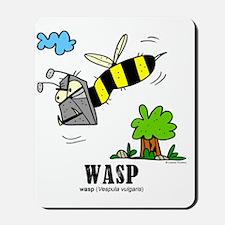 Cartoon Wasp by Lorenzo Mousepad