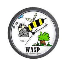 Cartoon Wasp by Lorenzo Wall Clock