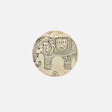 Vintage Elephant Mini Button