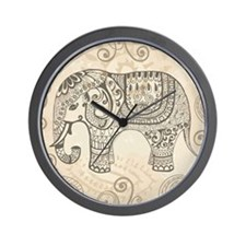 Vintage Elephant Wall Clock