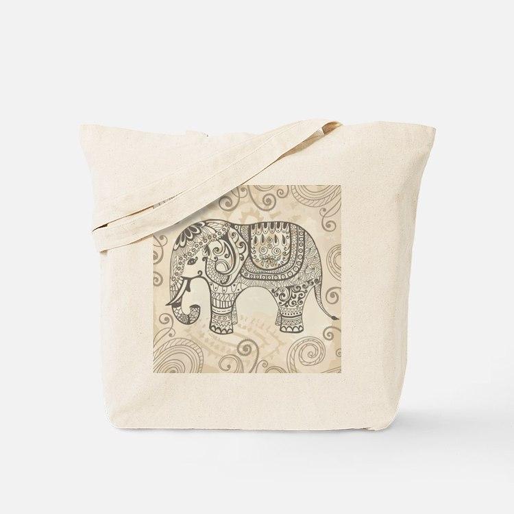 Vintage Elephant Tote Bag