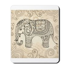 Vintage Elephant Mousepad
