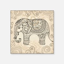 "Vintage Elephant Square Sticker 3"" x 3"""