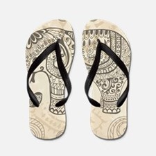 Vintage Elephant Flip Flops