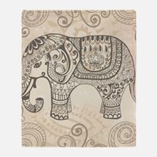 Vintage Elephant Throw Blanket