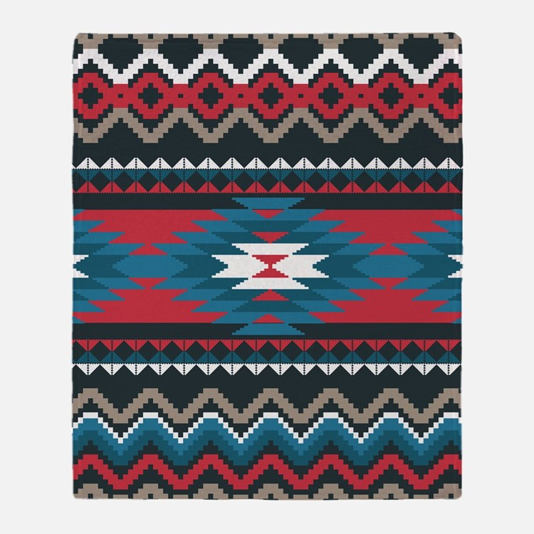 American Indian Pattern Throw Blankets, American Indian ...