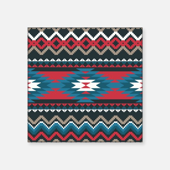 "Native Pattern Square Sticker 3"" x 3"""