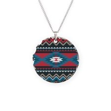 Native Pattern Necklace Circle Charm