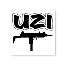 "UZI Square Sticker 3"" x 3"""