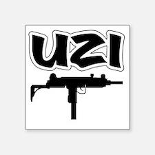 "UZI Square Sticker 3"" x 3"""