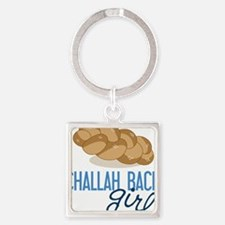 Challah Back Girl Square Keychain