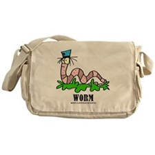 Cartoon Worm by Lorenzo Messenger Bag