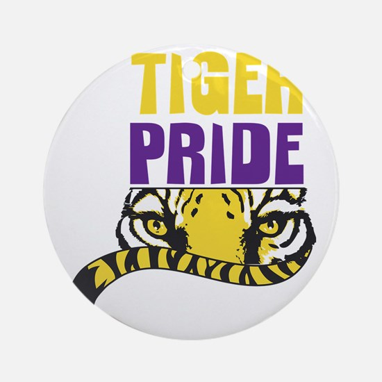 Geaux Tigers Round Ornament