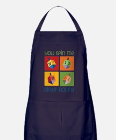 You Spin Me Apron (dark)