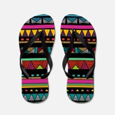 Native Pattern Flip Flops