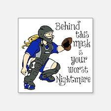 "Nightmare Square Sticker 3"" x 3"""