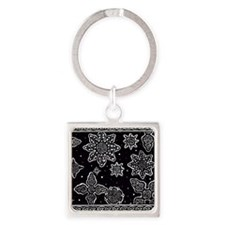 Celtic Snowflakes Square Keychain