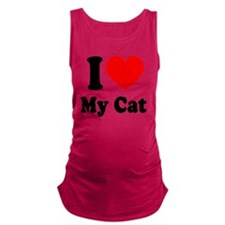 I Love My Cat: Maternity Tank Top