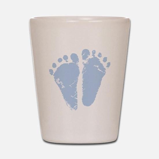 Blue Precious Feet Shot Glass
