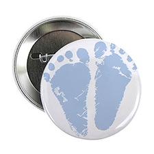 """Blue Precious Feet 2.25"""" Button"""