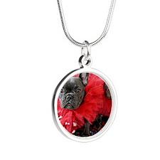 Valentine's Day card Silver Round Necklace