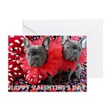 French bulldogs valentine Greeting Cards