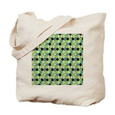 Geometric Green Pattern Tote Bag