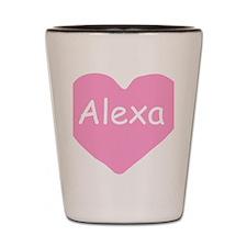 Alexa custom baby nightie Shot Glass