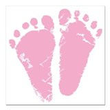 Baby feet Square Car Magnets